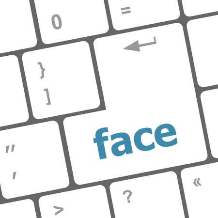 dissatisfaction: face word on computer pc keyboard key Stock Photo
