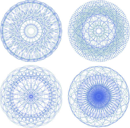 abstract blue with circle pattern, mandala set Stock Photo - 19435685