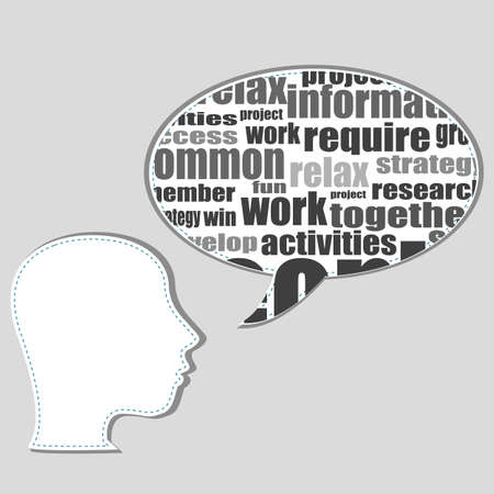 transactional: Brain training in business word collage