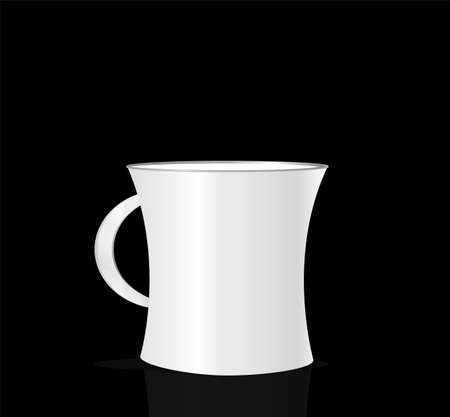 Coffee cup isolated on black background Stock Photo - 19435692