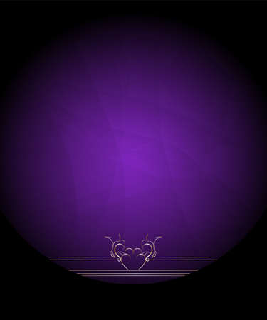 Invitation Card with Circle Ornament on Dark Purple Background photo