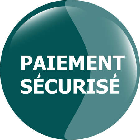 paiement securise, secure icon button Stock Photo - 19619905