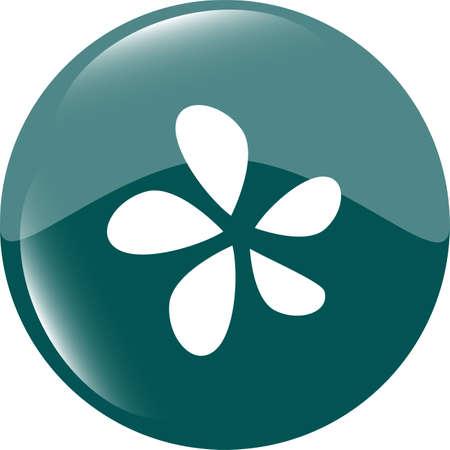 Icon button series - Leaf Stock Photo - 19619826