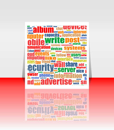 Marketing advertising communication word cloud concept photo