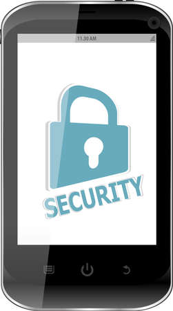smartphone with security lock on display. Generic mobile smart phone Stock Photo - 19619829