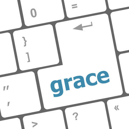 grace word on computer pc keyboard key photo