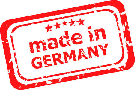 Red rubber stamp of Made In Germany photo