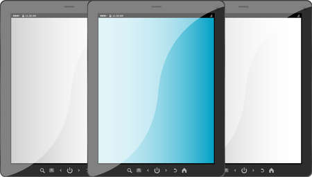 Group of tablet pc on white isolated background Stock Photo - 19619933