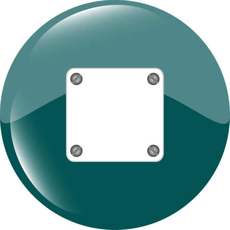 Green glossy empty speech bubble web button icon photo