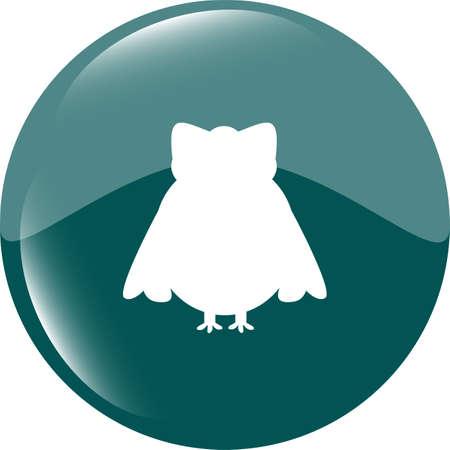 siluetas: Owl - icon isolated Stock Photo