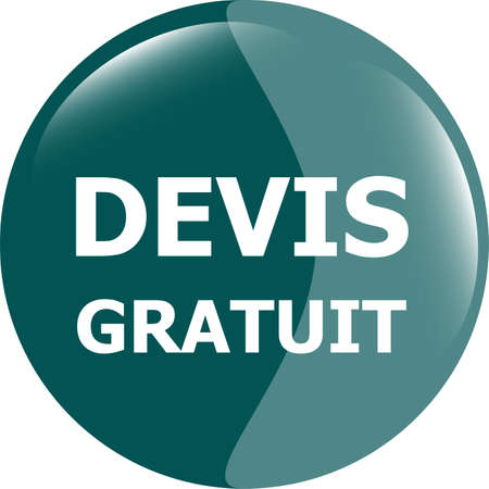 devis gratuit, Free quote glossy green button photo