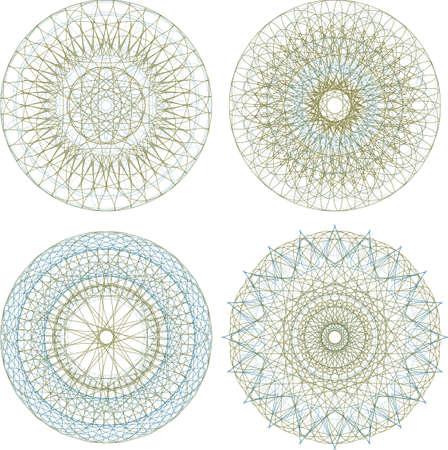 Mandala. Round ornament pattern set photo