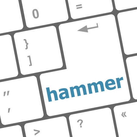 hammer word on computer pc keyboard key photo
