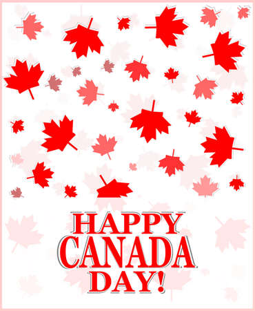canadian state flag: Happy Canada Day card in vector format Stock Photo
