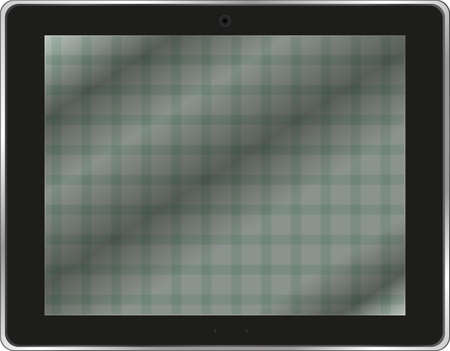 Black abstract tablet pc on white background Stock Photo - 19788149
