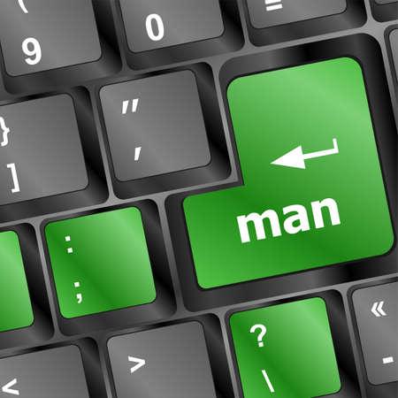 man word on computer keyboard key Stock Photo - 19788430