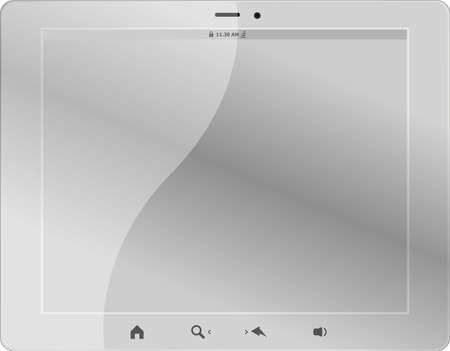 white tablet pc on white background Stock Photo - 19788539