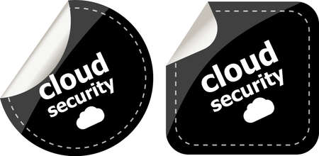cloud security black stickers label tag set photo