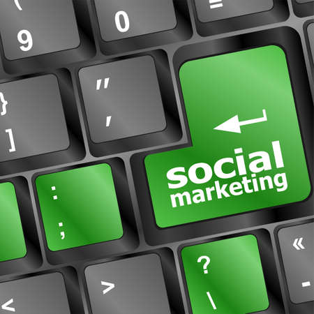 social marketing or internet marketing concepts, with message on enter key of keyboard Stock Photo - 19788605