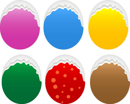 Torn oval paper stickers label tag set Stock Photo - 20005761
