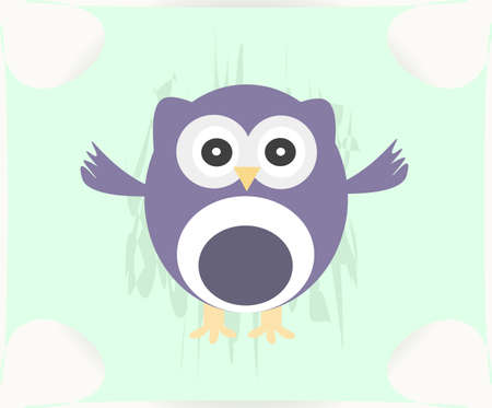 Cute Vector Owl photo