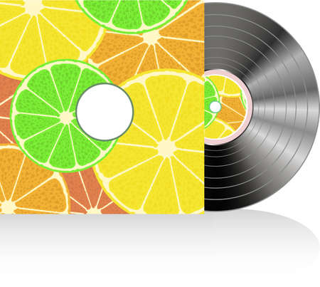 Black vinyl in fruits cover photo