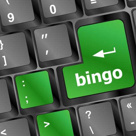 bingo button on computer keyboard photo