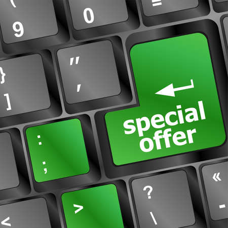 special offer button on computer keyboard Stock Photo - 20542957