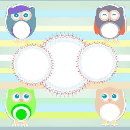 Cute owl set photo