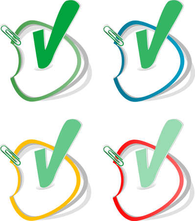 Check mark buttons. stickers label tag set Stock Photo - 20542988