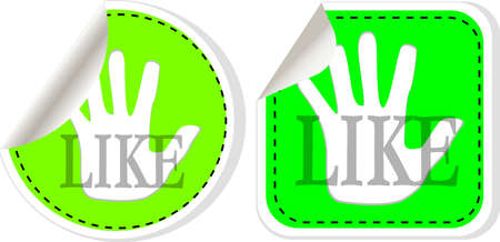 Social media and network concept. green like button set Stock Photo - 20543022