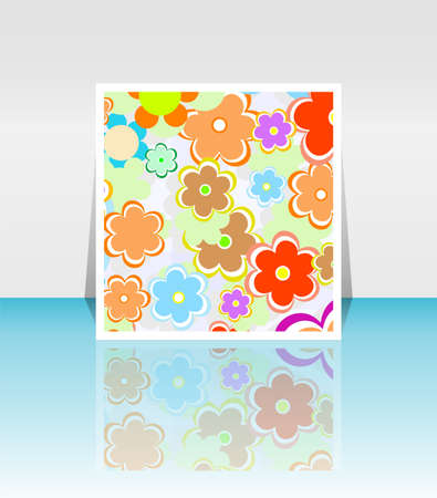 Design background of spring flowers brochure. Birthday, easter or invitation card photo