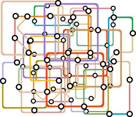 Colorful abstract subway map photo