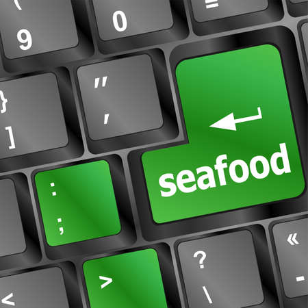 keyboard key layout with sea food button Stock Photo - 20610929