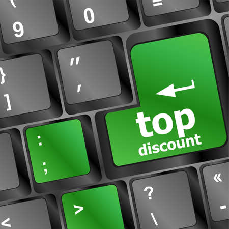 top discount word key or keyboard, discount concept Stock Photo - 20610930