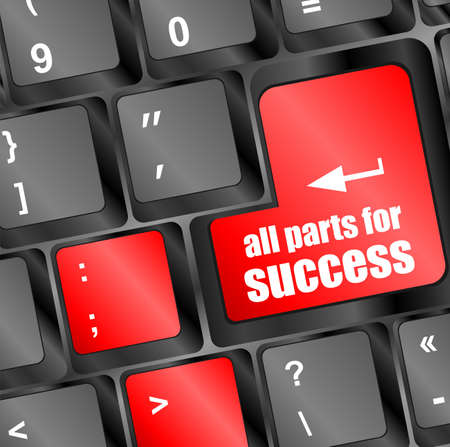 all parts for success button on computer keyboard key photo