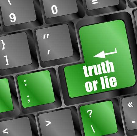 lie: truth or lie button on computer keyboard key