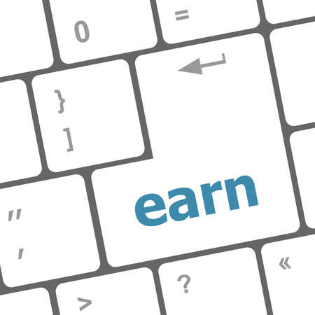 earn button on computer pc keyboard key photo