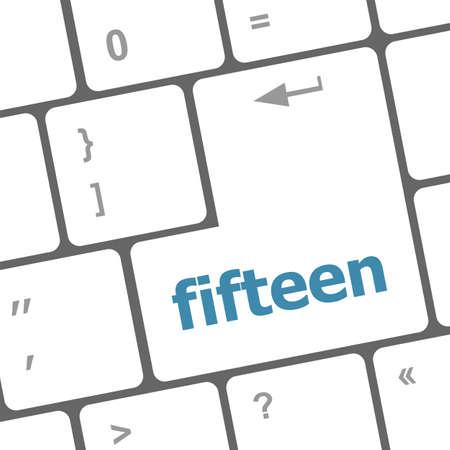 fifteen: fifteen button on computer pc keyboard key