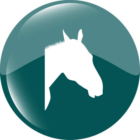 horse sign button, web app icon photo