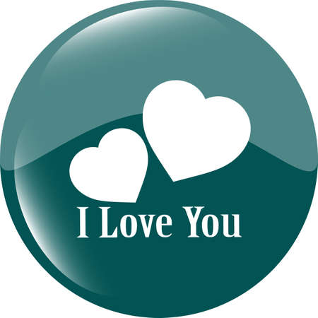 button with heart sign. Round shapes icon photo