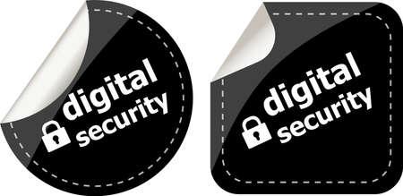 digital security black stickers label tag set photo