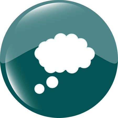 speech bubbles sign button, web app icon photo