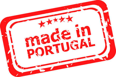 Made in portugal red rubber stamp photo