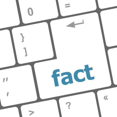 fact button on keyboard - business concept, raster photo