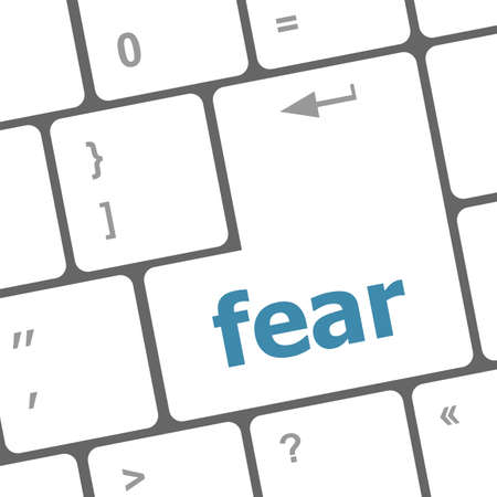 fear button on computer pc keyboard key photo