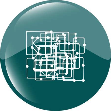 abstract metro green circle glossy web icon on white background Stock Photo - 22462740