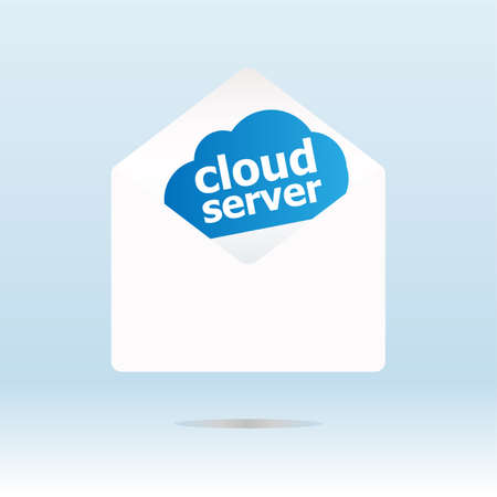 Networking concept: cloud server on digital background, 3d photo