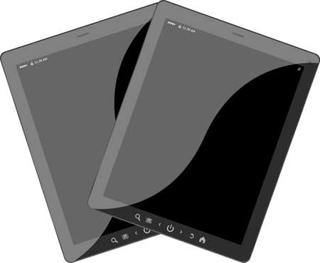 technics: Set of mobile electronic technics. tablet pc set