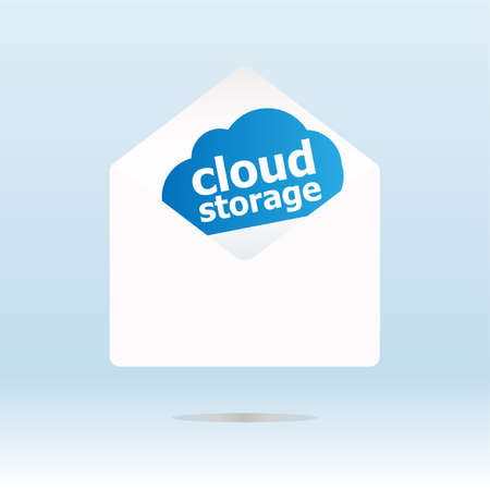 cloud storage on digital background, network security photo